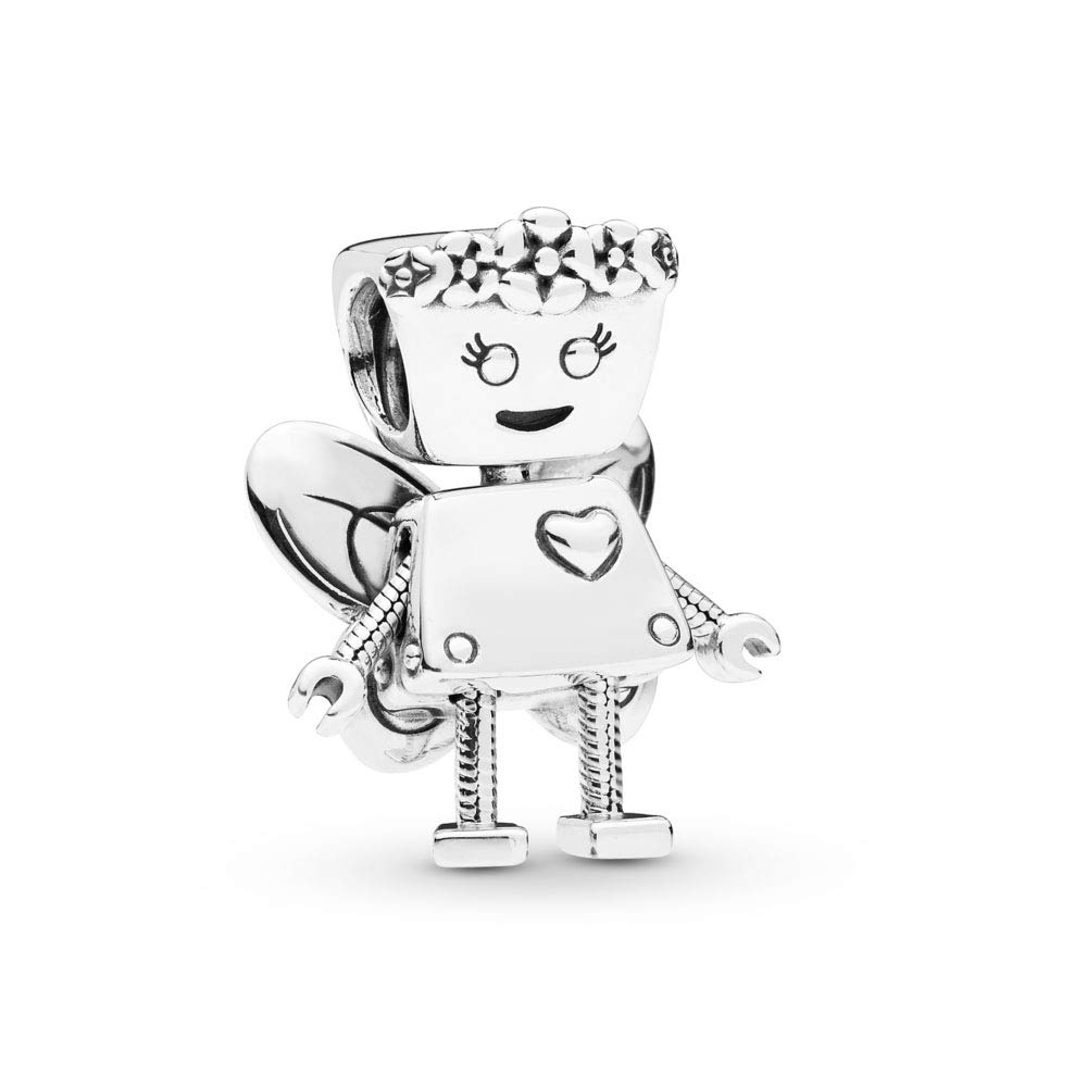 PANDORA Floral Bella Bot 925 Sterling Silver Charm - 797856