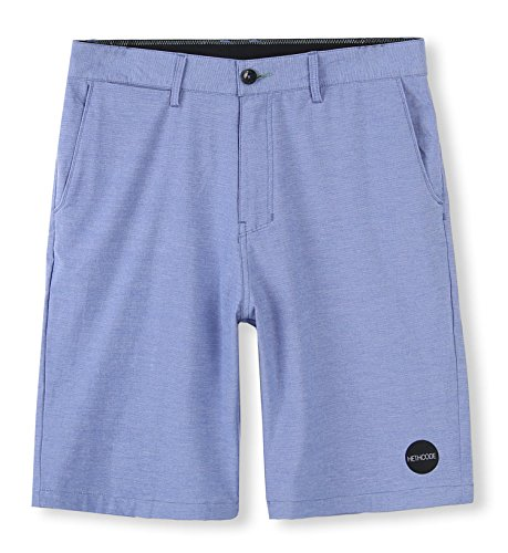 (HETHCODE Men's Casual Classic Fit Hybrid Submersible Chino Walk Shorts Light Blue 30 )