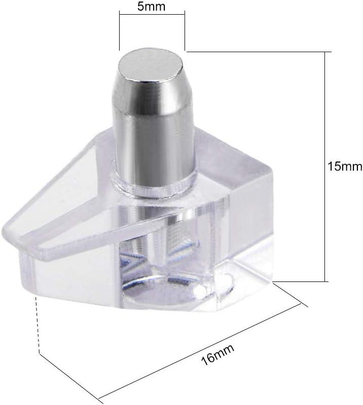 Sourcing Map Ripiano Pioli Supporto Staffa Vetro In Lega Zinco Chiodo Pannello Porta-Pallet 19mmx13mmx15mm 10pz