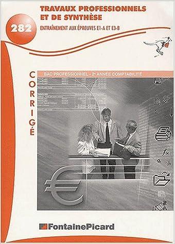 Livres gratuits Travaux professionnels de synthèse Entraînement aux épreuves E1-A et E3-B Bac pro 2ème année Comptabilité. Corrigé pdf, epub ebook