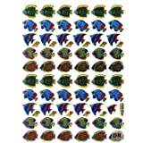 Fish Animal sticker decal Metallic Glitter 1 sheet Dimensions: 13,5 cm x 10 cm