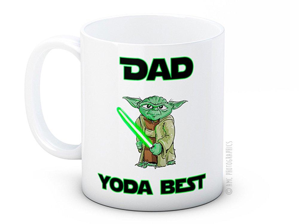 Dad Yoda Best - Star Wars - Taza de café de alta calidad: Amazon.es: Hogar