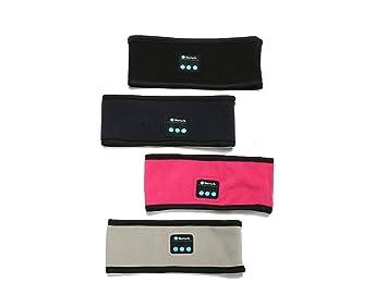 Inalámbrico Bluetooth música estéreo de diadema deporte, dormir auriculares auriculares Running, diadema, rosa: Amazon.es: Deportes y aire libre