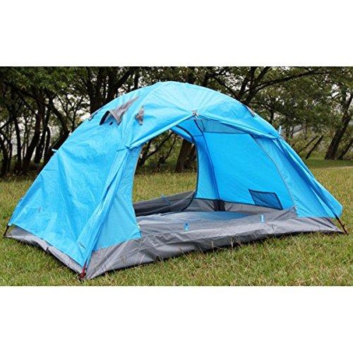 Outdoor-Camping-Double-Layer-Regenschutz Sonnenschutz aus Aluminium Rod-Zelt