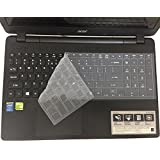 CaseBuy® Ultra Thin Silicone Keyboard Cover Protector Skin for Acer Aspire E1-510 E1-510P E5-511 E5-511P E5-521 E5-521G E1-522 E1-530 E5-531 E1-532 E1-532P E5-551 E5-551G E1-570 E5-571 E5-571G E5-571P E5-571PG E1-572 E1-572P E1-731 E1-771 E5-721 E5-731 E5-771 E5-771G V3-551 V3-551G V3-571 V3-571G V3-572 V3-572G V3-572P V3-572PG V3-731 V3-731G V3-771 V3-771G V3-772G V5-561 V5-561PG V5-561G V5-561P V17 Nitro VN7-791G series US Layout (Clear)