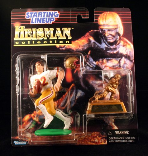 DOUG FLUTIE / BOSTON COLLEGE EAGLES * 1997 NCAA College Football HEISMAN COLLECTION Starting Lineup Action Figure, Football Helmet & Miniature 1984 Heisman Memorial Trophy ()
