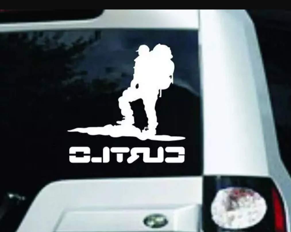 Lionston men walking on mountain car windows bumper hood side car exterior stickers decalswhite amazon in car motorbike