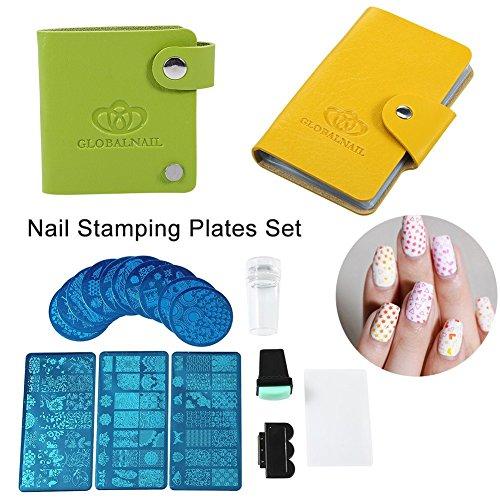 8 Pcs Water Transfer Sheet Nail Art Sticker Decal Beauty Tips Decoration - 9
