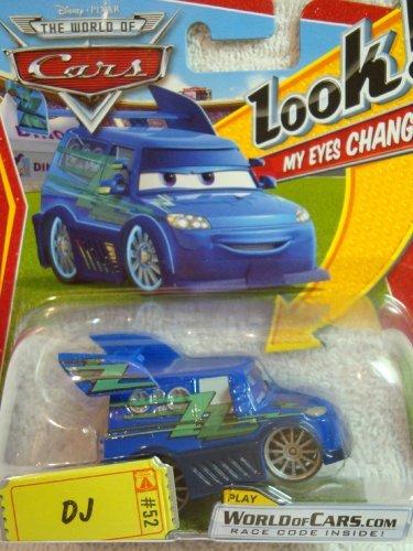 Disney Pixar Cars DJ Lenticular Changing Eyes Series 1:55 Scale Diecast Mattel