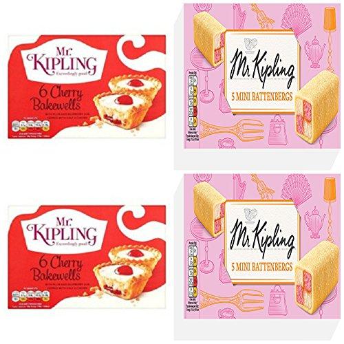 Mr Mr Kipling 5 Mini Battenberg X 2 Pack 6 Cherry Bakewells x 2 Pack