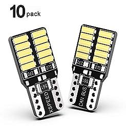 XSPEED 194 LED Light Bulb Error Free 800...