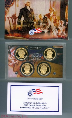 2007 US Mint Presidential Dollar Proof Set