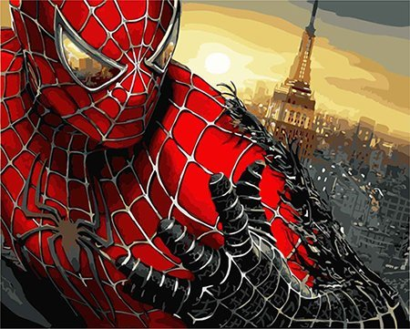 Paint Spider Man (DoMyArt Diy Oil Painting, Paint By Number Kits - Spider Man 16X20 Inch)