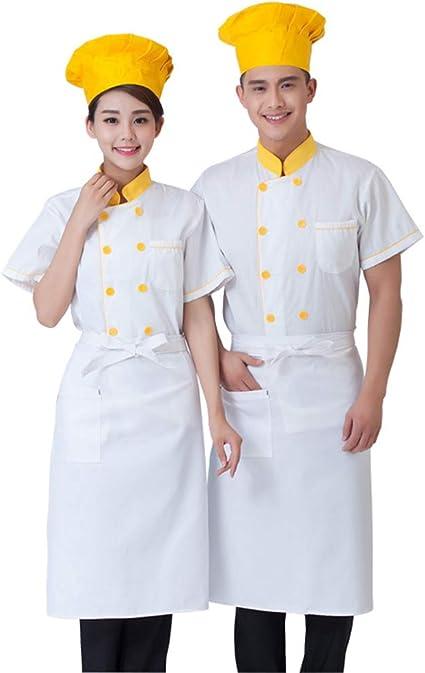 WYCDA Cocina Uniforme Camisa de Cocinero Manga Corta La Red ...