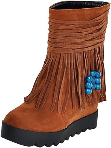 cráneo borde resultado  Otoño Invierno Botines para Mujer, Zapatos Otoño/Invierno 2019  Zapatillas/Calzado Botín Corto Botas Interiores con Borla y Hebilla Tassel  Boots: Amazon.es: Zapatos y complementos