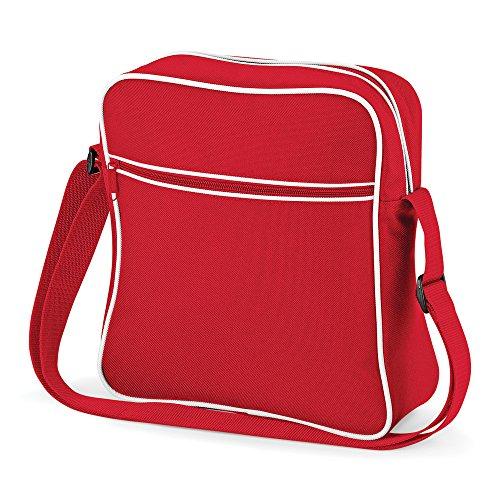 BagBase Retro Flight Bag Rojo - Classic Red