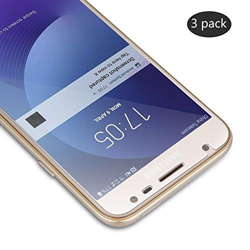 Vetro Temperato Samsung Galaxy J3 2017, SUERW 3 Pack Pellicole Protettive in Vetro Temperato Screen Protector per Samsung Galaxy J3 2017 (0.33mm HD Alta Trasparenza)