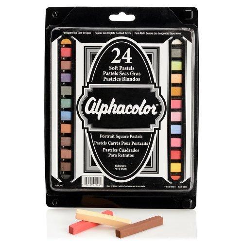 Quartet Alphacolor Soft Pastels, Multi-Cultural Portrait Pastels for Skin Tones, 24 Pastels per Set (102008) by Quartet