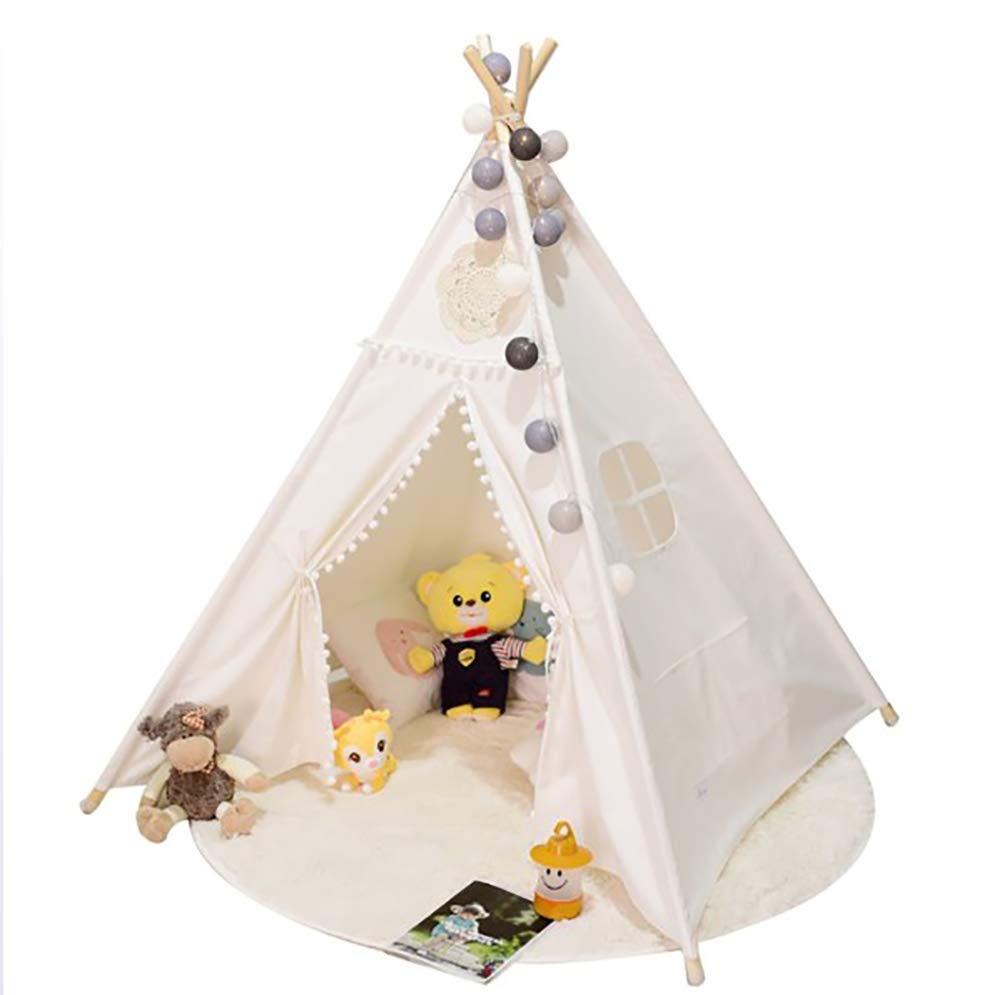 MTEUIE Kids Teepee Tent for Kids Boys & Girls  100% Cotton Kids Play Tent  Kids Tent Indoor  Baby Teepee Tent  Play Teepee Tents for Kids  Tipi Tent Kids