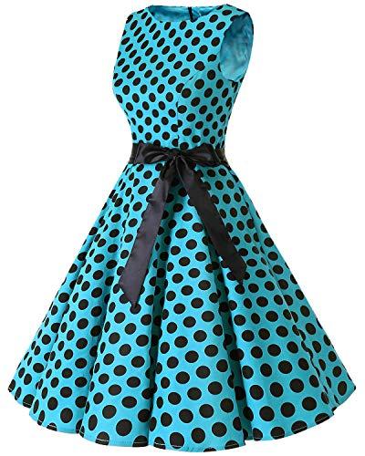 Dot Rockabilly Clásico Black Retro Blue Vestidos Bbonlinedress 50s Big Vintage wqXzx7ptIR