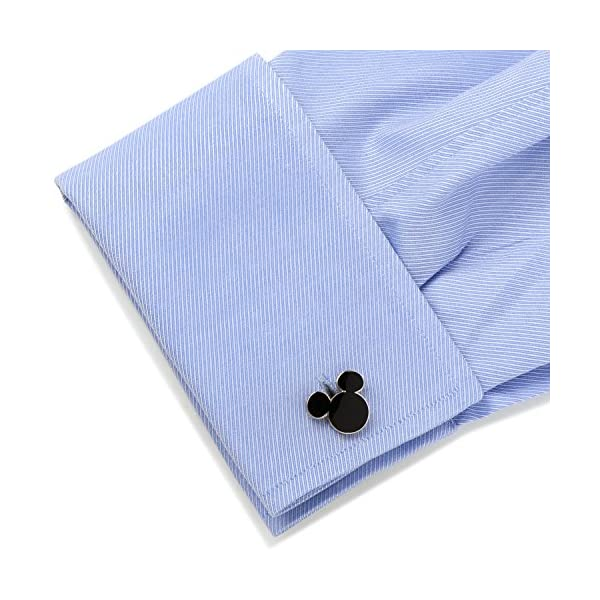 Disney-Mens-Mickey-Mouse-Silhouette-Cufflinks-DN-MSILH-SL