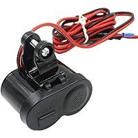 TAOHOU USB Ports Motorcycle Handlebar Switch Charger Adapter Power Supply Sockets Black