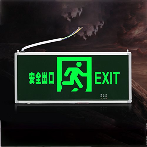 Emergency lights safety exit lights light led plug fire emergency lights evacuation signs lights ( Color : Dark green-1 ) by Baoduohui (Image #5)