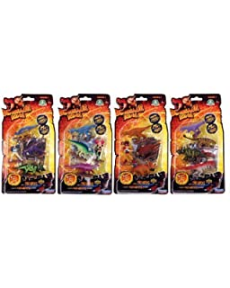 pack 4 figurines dinosaur king