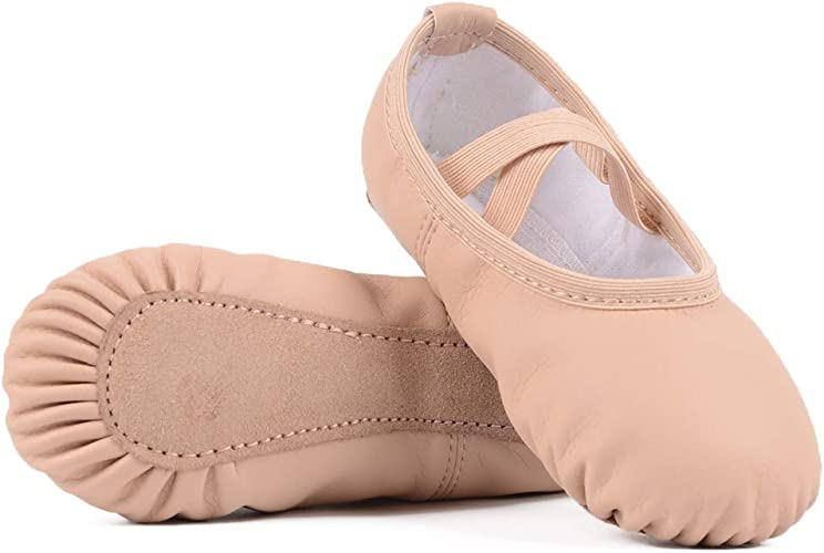 Pink//Nude Leather Ballet Shoes for Girls//Toddlers//Kids Full Sole Leather Ballet Slippers//Dance Shoes