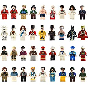 Minifigures Set, Cyiecw 36 pcs Community Mini People from Different Industries for Kids Party, Gifts, Building Bricks Kids Educational Toy to Build More Fun