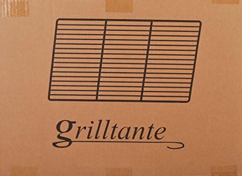 Grill en acier inoxydable 44x 25,5cm avec 2poignées, V2A pour barbecue 4Bols Baguettes/6mm, rectangulaire, feu cheminée panier