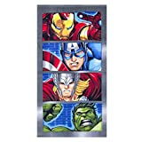Disney Marvel Avengers Kids 27 by 55 Inch Bath Indoor Outdoor Towel (Grey)