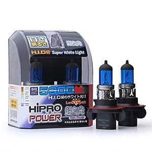 Hipro Power H13 (9008) Super White Xenon HID Headlight Bulbs - Low & High Beam