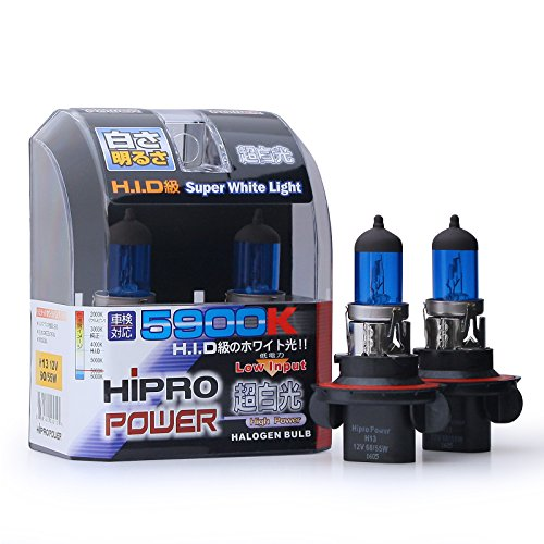 Xenon Super White Bulb - Hipro Power H13 (9008) Super White Xenon HID Headlight Bulbs - Low & High Beam