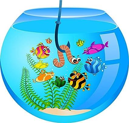 Amazon Com Aquarium Cartoon Home Decal Vinyl Sticker 12 X