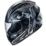 Fulmer, AF-62B2105X, Adult Full Face Street Motorcycle Helmet w/iShade DOT/ECE Approved - Black Ten, XS