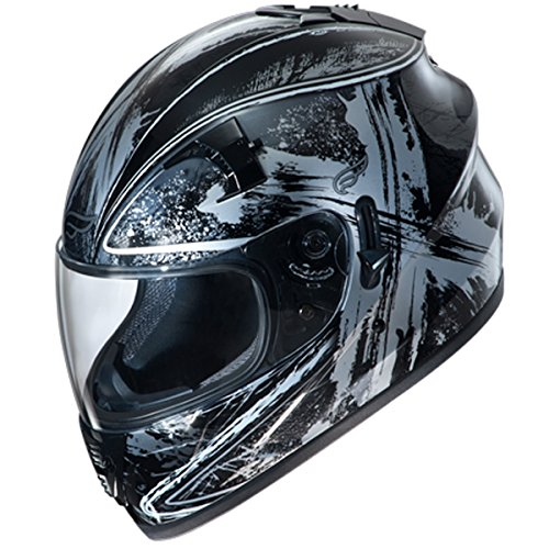 Fulmer, AF-62B2405X, Adult Full Face Street Motorcycle Helmet w/iShade DOT/ECE Approved - Black Ten, L