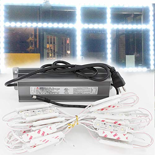 - LEDUPDATES 25ft Premium Brightest Storefront Window LED Light Module with Samsung Chip + Heavy Duty UL Listed 12v 100w Power Supply