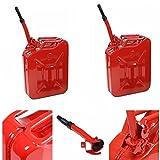#3: Tenozek 20L 5 Gal Gas Storage Tank can Emergency Backup Gas Caddy Red color (1)