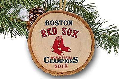 "Boston Red Sox World Series Champions 2018, Red Sox, Baseball, Major League, Wood slice ornament 3"""
