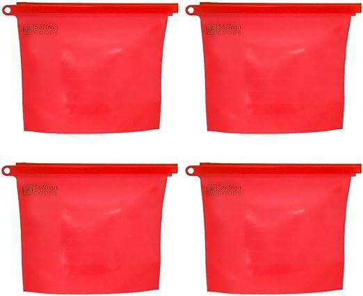 Kitchen Fresh Porket Lock Sealed Bag Reusable Silicone Food Freezer Storage