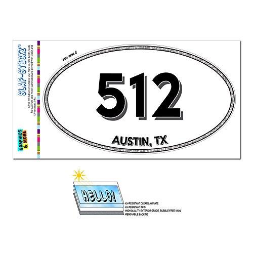 Area Code Euro Oval Window Laminated Sticker 512 Texas TX Austin - Wimberley - Austin (Wimberley Tx)