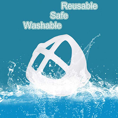 MINGYUAN Face Mask Inner Support Frame Bracket Masc Stands More Space for L-ipstick Protection Comfortable Mouth Nose Breathing Washable Reusable(3, White)