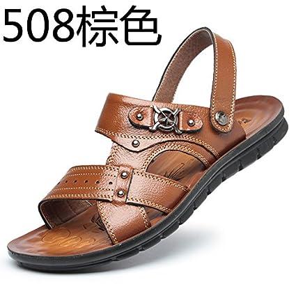 7dc7c6f926a10 Amazon.com   Xing Lin Summer Beach Wear Flip Flops Men S Sandals   Summer  Men S Sandals New Spring And Summer Men S Trendy Men S Beach Shoes   Sports    ...
