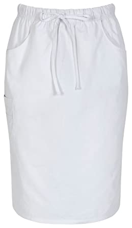 e5f0dee3c1 Dickies 86505 Women's 25-in Drawstring Skirt White at Amazon Women's  Clothing store: