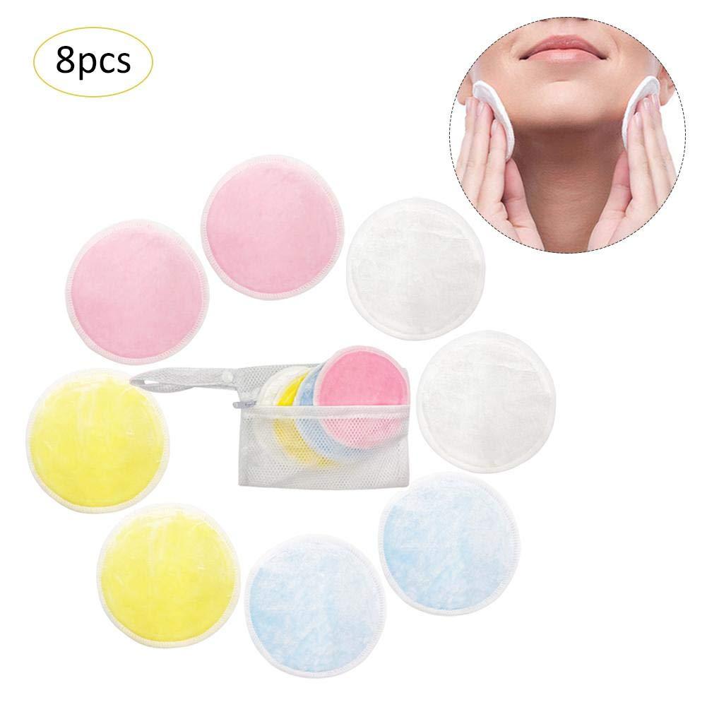 Fovolat Facial Cleaning Pad Bamboo Fiber Velvet Reusable Makeup Remover Pad 20pcs