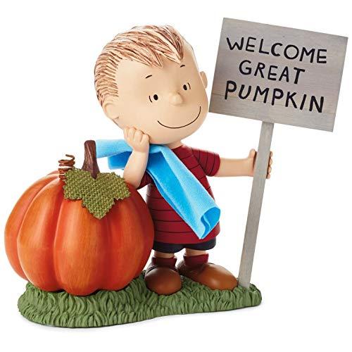 Hallmark Peanuts Linus Welcome Great Pumpkin Figurine, 8.5