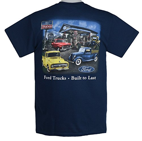 Early Ford Pickup - Truck T-Shirt 100% Cotton Preshrunk - Blue - by HRAC
