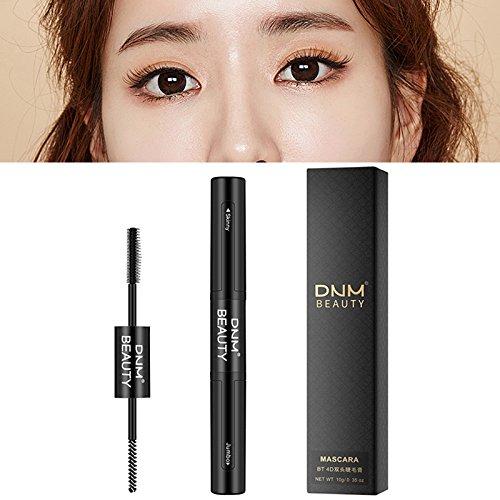 Croissance de greffe de mascara imperméable double de 1PCS Silk 4D, noir: Amazon.es: Belleza