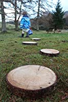 1 Piece The Samurai Woodman Rustic /& Natural Large Log Slices Perfect for Flowerbed and Garden Stepping Stones Pathways